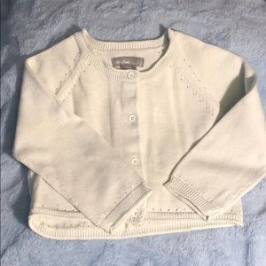 Baby Gap, mint green lightweight cardigan, 6-12mos